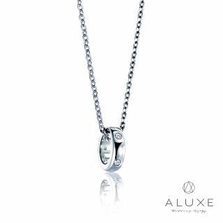 【A-LUXE 亞立詩】Petite系列18K金Single美鑽項鍊(兩色任選)
