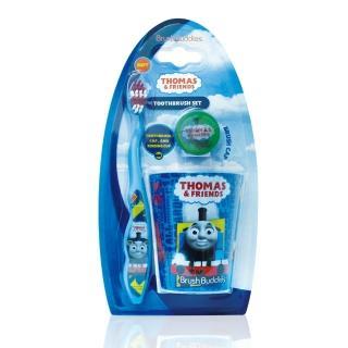 【美國熱銷卡通 Thomas&Friends】牙刷漱口杯組(軟毛/適5歲以上)