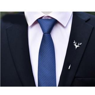 【拉福】領帶6cm中窄版領帶精工手打領帶(深藍)