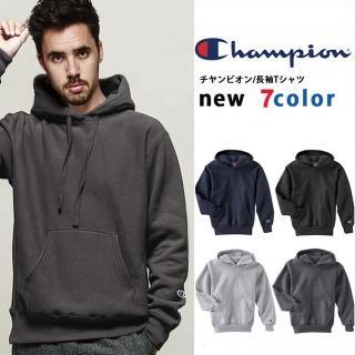 【Champion】美規冠軍CHAMPION HOODIE連帽T恤 高磅刷毛 運動潮牌 素面