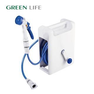 【日本製 GREEN LIFE】輕巧兩用水管車15M(洗車、園藝澆花、居家打掃)