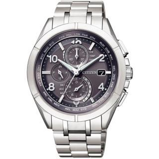 【CITIZEN 星辰】Eco-Drive 爽朗紳士光動能電波對時錶(AT8160-55H)