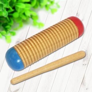 【美佳音樂】奧福打擊樂器/兒童樂器 木製/兩用 沙筒/刮胡(附棒)