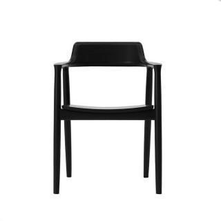 【北歐櫥窗】Maruni Hiroshima 廣島扶手椅(櫸木座、黑色)