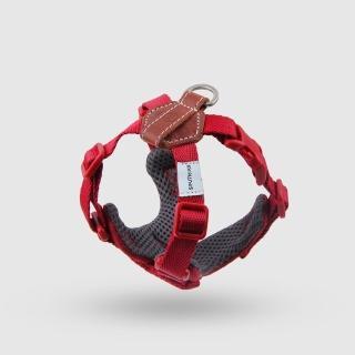 【SPUTNIK 斯普尼克】EXPLORE 寵物胸背帶Harness(紅色S)