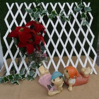 【園藝世界】白色木網格籬笆-2.5尺