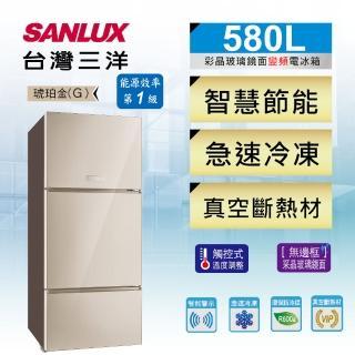 【SANLUX 台灣三洋】580公升一級能效變頻三門冰箱(SR-C580CVG)