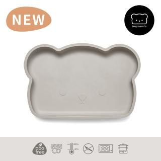 【新加坡bopomofo】小熊矽膠餐盤-灰色(矽膠餐具)