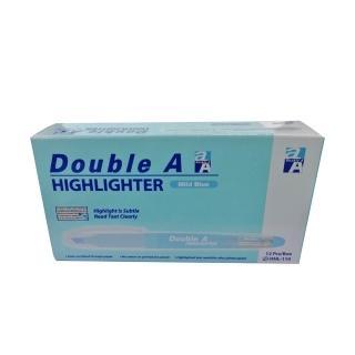 【Double A】淡色螢光筆-淡藍(12支/盒)