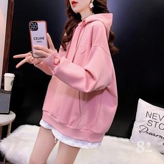 【89 zone】韓版名媛魅力假兩件寬鬆外套(粉色)