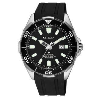 【CITIZEN 星辰】PROMASTER海洋潛水200米鈦金屬光動能腕錶(BN0200-13E)