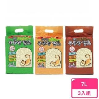 【韓國豆腐貓】豆腐貓砂《原味/綠茶/咖啡》7L(3包組)