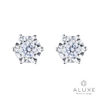 【A-LUXE 亞立詩】18K 0.12克拉雙倍顯鑽 鑽石耳環