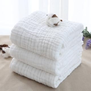 【JoyNa】澎澎紗純棉6層紗布浴巾105*105CM(4件入)
