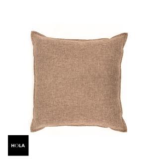 【HOLA】HOLA 素色織紋抱枕60x60cm 棕色