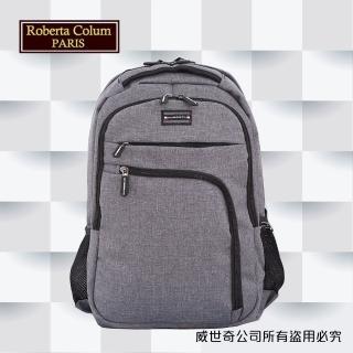 【Roberta Colum】諾貝達 百貨專櫃 男仕多功能防潑水側背包(PX503-2 灰色)