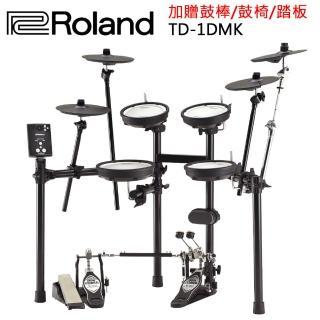 【ROLAND 樂蘭】TD-1DMK邁出鼓手第一步的夢幻套鼓(附踏板/鼓椅/鼓棒/公司貨/原廠保固)