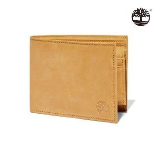 【Timberland】男款小麥黃正絨面皮革多夾層皮革短夾(D9063231)