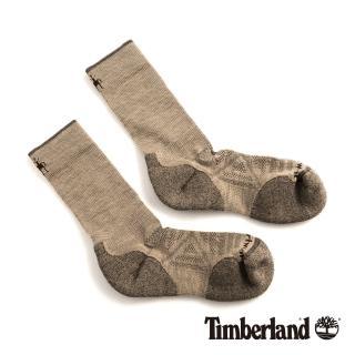 【Timberland】男款米色透氣吸汗舒適中筒襪(01069241)