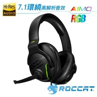 【ROCCAT】KHAN AIMO-7.1 悍音-艾摩版高解析RGB電競耳機-黑