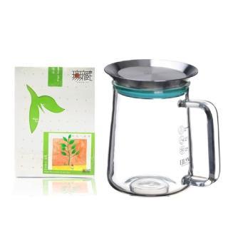 【無藏茗茶】茶覺360玻璃壺+無花不茶原葉三角立體茶包(650ml茶壺+茶包3g*10入袋裝)