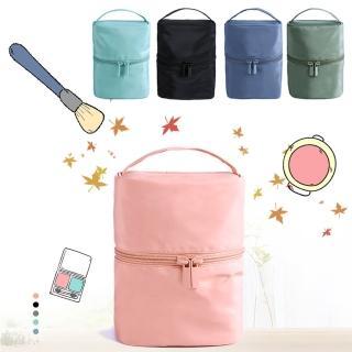 【TD樂活】DINIWELL輕便旅行圓筒化妝收納包(旅行收納包)