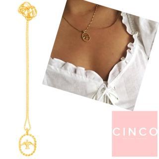 【CINCO】葡萄牙精品 CINCO LORE NECKLACE 24K金喜鵲項鍊(925純銀)