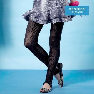 【Gennies 奇妮】時尚點點透膚一體成型踩腳褲(黑G4202)