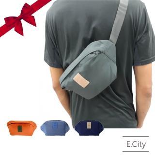 【E.City】買大包送小包-旅行多功能防潑水防盜貼身胸包腰包