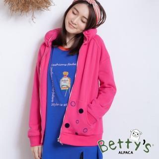 【betty's 貝蒂思】圈點印花太空領外套(桃紅)