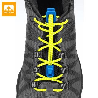 【NATHAN】反光快扣鞋帶 NA1161NNYEB 反光綠(鞋帶、慢跑、三鐵、綁鞋帶)