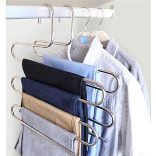 【EZlife】超大超耐重不鏽鋼五件式褲架6入組