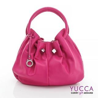 【YUCCA】經典優雅立體球型包-紫紅(D012812)