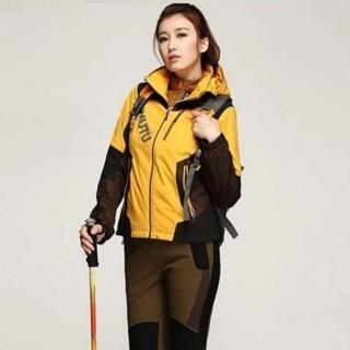 【米蘭精品】登山外套女夾克(保暖防風防水透氣滑雪女外套62y44)