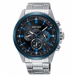 【SEIKO 精工】Criteria 時時刻刻三眼太陽能時尚腕錶(SSC683P1/V175-0ER0A)