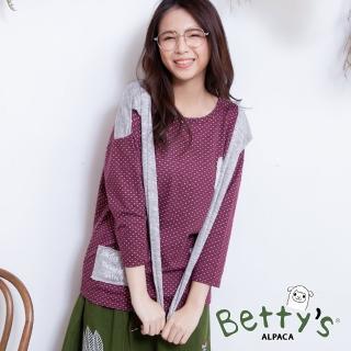 【betty's 貝蒂思】點點領結上衣(紅色)
