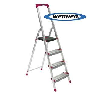 【WERNER】美國Werner穩耐安全鋁梯-L234R-5 鋁合金大平台4階家用梯 A字梯