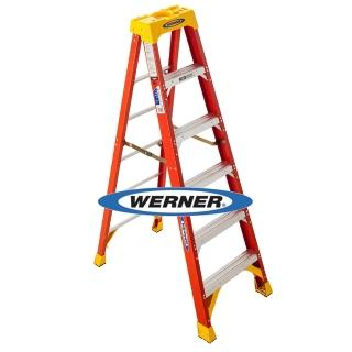 【WERNER】美國Werner穩耐絕緣梯-6206AS玻璃鋼單側人字梯/FRP梯