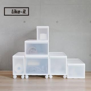 【日本like-it】UNI-COM自由疊砌抽屜附輪收納櫃-6入組-3高3低-寬34+25.5+17cm