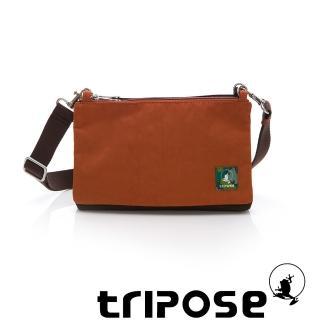 【tripose】MAJI系列 混紡咖x 香橙橘多變斜背包(雙子座)