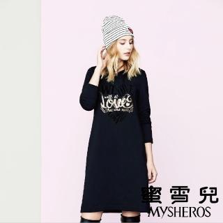 【mysheros 蜜雪兒】俏麗連帽洋裝(黑)
