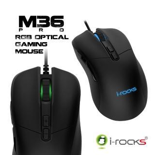 【i-Rocks】M36W Pro RGB光學遊戲滑鼠