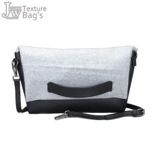 【JW】日韓秋冬混搭棉布配皮革肩背側背包(共4色)