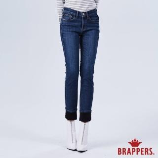 【BRAPPERS】女款 新美腳ROYAL系列-中高腰彈性保暖窄管褲(深藍)