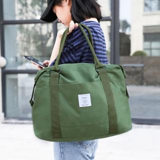 【E.City】牛津布手提肩背行李拉桿登機袋(容量大)