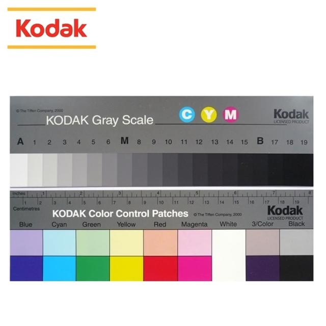 【美國KODAK柯達】專業色階校色卡+標準灰卡Q-13(2張入