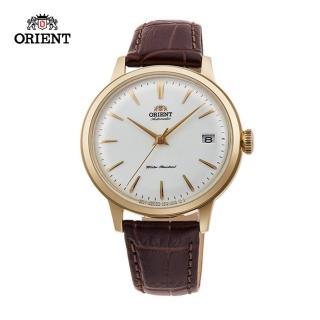 【ORIENT 東方錶】ORIENT 東方錶 DATEⅡ系列 機械錶 皮帶款 金色 - 36.4mm(RA-AC0011S)