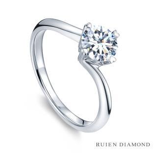 【RUIEN DIAMOND 瑞恩鑽石】GIA50分 D VS2 3EX(18K白金 甄愛 鑽石婚戒)