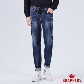 【BRAPPERS】男款 中低腰彈性鬆緊帶八分褲(藍)