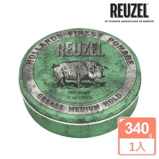 【REUZEL】Green Pomade Grease 綠豬中強髮油(340g)